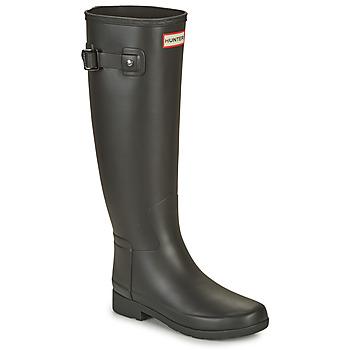 Čevlji  Ženske škornji za dež  Hunter ORIGINAL REFINED Črna
