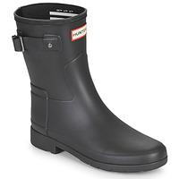 Čevlji  Ženske škornji za dež  Hunter ORIGINAL REFINED SHORT Črna