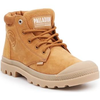 Čevlji  Ženske Visoke superge Palladium Manufacture Pampa LO Cuff LEA 95561-717-M brown
