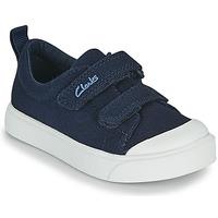 Čevlji  Otroci Nizke superge Clarks CITY BRIGHT T Modra