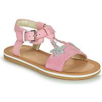 Čevlji  Deklice Sandali & Odprti čevlji Clarks FINCH SUMMER K Rožnata