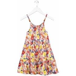 Oblačila Deklice Kratke obleke Losan 814-7028AB Oranžna