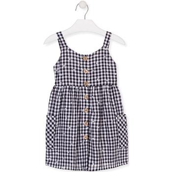 Oblačila Deklice Kratke obleke Losan 016-7002AL Modra