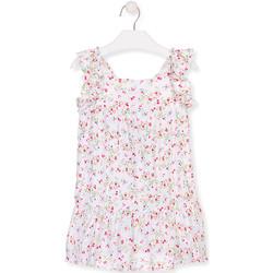 Oblačila Deklice Kratke obleke Losan 016-7031AL Biely