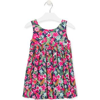 Oblačila Deklice Kratke obleke Losan 016-7036AL Roza
