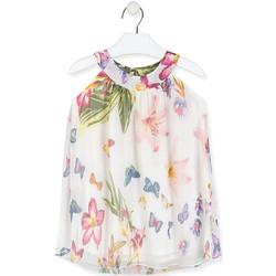 Oblačila Deklice Kratke obleke Losan 016-7793AL Biely