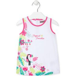 Oblačila Deklice Kratke obleke Losan 018-7005AL Biely