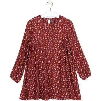 Oblačila Deklice Kratke obleke Losan 024-7016AL Rdeča