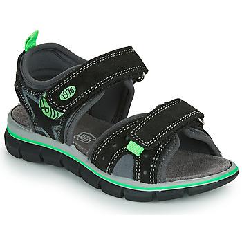 Čevlji  Dečki Sandali & Odprti čevlji Primigi NOIRA Črna / Zelena