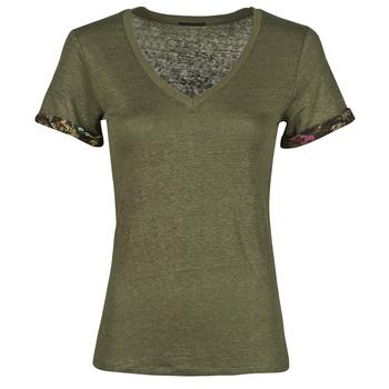 Oblačila Ženske Majice s kratkimi rokavi Ikks BS10255-56 Kaki