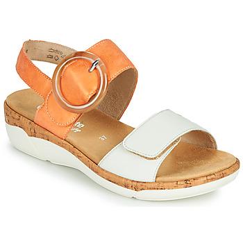 Čevlji  Ženske Sandali & Odprti čevlji Remonte Dorndorf ORAN Oranžna / Bela
