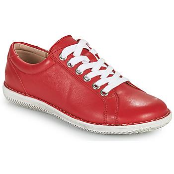 Čevlji  Ženske Čevlji Derby Casual Attitude OULETTE Rdeča