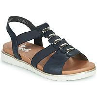 Čevlji  Ženske Sandali & Odprti čevlji Rieker NINNA Modra