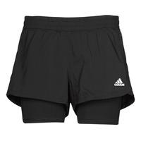 Oblačila Ženske Kratke hlače & Bermuda adidas Performance PACER 3S 2 IN 1 Črna
