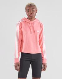 Oblačila Ženske Puloverji adidas Performance W 3S FT CRO HD Rožnata