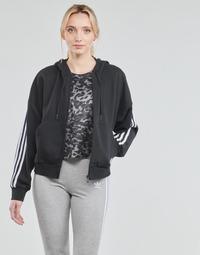 Oblačila Ženske Športne jope in jakne adidas Performance W 3S FZ HD Črna