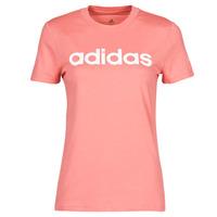 Oblačila Ženske Majice s kratkimi rokavi adidas Performance W LIN T Rožnata