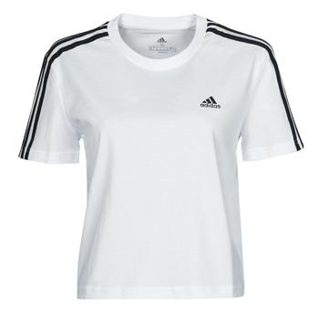 Oblačila Ženske Majice s kratkimi rokavi adidas Performance W 3S CRO T Bela
