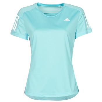 Oblačila Ženske Majice s kratkimi rokavi adidas Performance OWN THE RUN TEE Modra