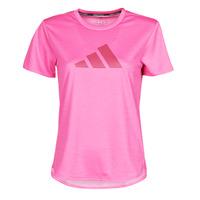 Oblačila Ženske Majice s kratkimi rokavi adidas Performance BOS LOGO TEE Rožnata