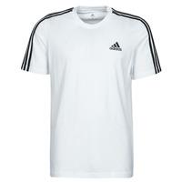 Oblačila Moški Majice s kratkimi rokavi adidas Performance M 3S SJ T Bela