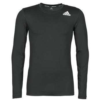 Oblačila Moški Majice z dolgimi rokavi adidas Performance TF LS Črna