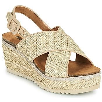 Čevlji  Ženske Sandali & Odprti čevlji Refresh AMELA Bež