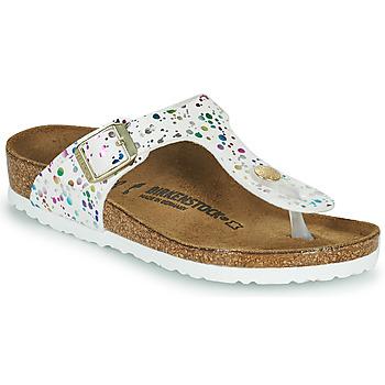 Čevlji  Deklice Japonke Birkenstock GIZEH Bela