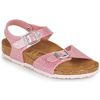 Čevlji  Deklice Sandali & Odprti čevlji Birkenstock RIO PLAIN Rožnata