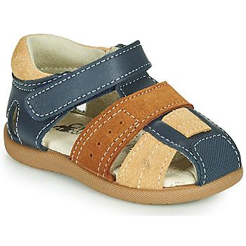 Čevlji  Dečki Sandali & Odprti čevlji Citrouille et Compagnie OLOSS Modra / Kostanjeva