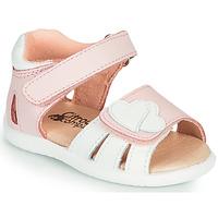 Čevlji  Deklice Sandali & Odprti čevlji Citrouille et Compagnie OLESS Rožnata / Bela