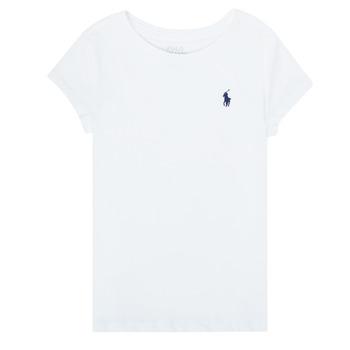 Oblačila Deklice Majice s kratkimi rokavi Polo Ralph Lauren ZALLIE Bela