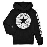 Oblačila Dečki Puloverji Converse SIGNATURE CHUCK PATCH HOODIE Črna