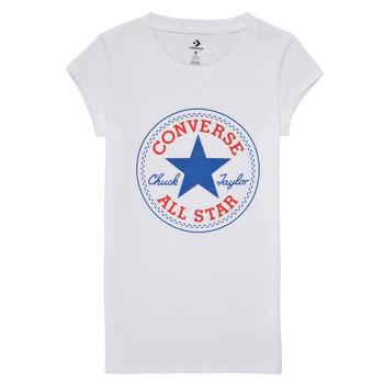 Oblačila Deklice Majice s kratkimi rokavi Converse TIMELESS CHUCK PATCH TEE Bela