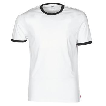 Oblačila Moški Majice s kratkimi rokavi Levi's SS RINGER TEE Bela