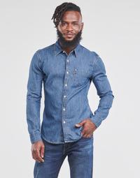 Oblačila Moški Srajce z dolgimi rokavi Levi's SUNSET 1 PKT SLIM Modra