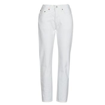 Oblačila Ženske Jeans boyfriend Levi's 501 CROP Bela