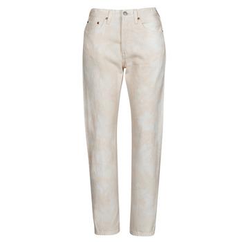 Oblačila Ženske Jeans boyfriend Levi's 501 CROP Breskev