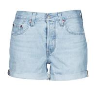 Oblačila Ženske Kratke hlače & Bermuda Levi's 501 ROLLED SHORT Modra