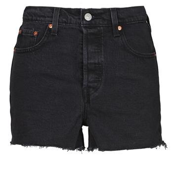 Oblačila Ženske Kratke hlače & Bermuda Levi's RIBCAGE SHORT Črna
