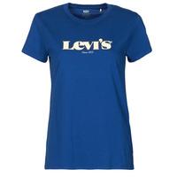 Oblačila Ženske Majice s kratkimi rokavi Levi's THE PERFECT TEE Modra