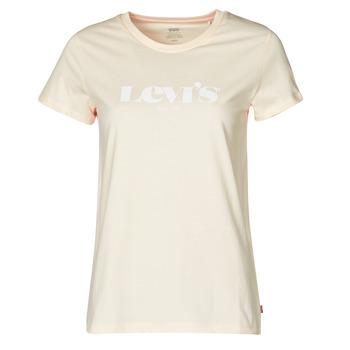 Oblačila Ženske Majice s kratkimi rokavi Levi's THE PERFECT TEE Bež