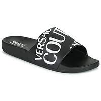 Čevlji  Moški Natikači Versace Jeans Couture TENNIA Črna / Bela