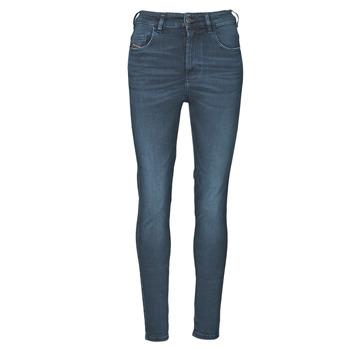 Oblačila Ženske Jeans skinny Diesel D-SLANDY-HIGH Modra