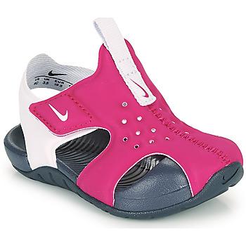 Čevlji  Deklice Natikači Nike SUNRAY PROTECT 2 TD Vijolična