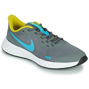 Čevlji  Dečki Šport Nike REVOLUTION 5 GS Siva / Modra