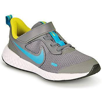Čevlji  Dečki Šport Nike REVOLUTION 5 PS Siva / Modra