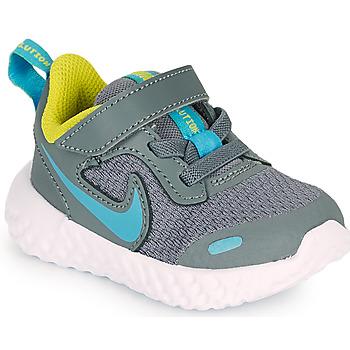 Čevlji  Dečki Šport Nike REVOLUTION 5 TD Siva / Modra