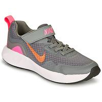 Čevlji  Deklice Šport Nike WEARALLDAY PS Siva / Rožnata