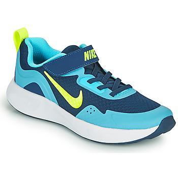 Čevlji  Dečki Šport Nike WEARALLDAY PS Modra / Zelena